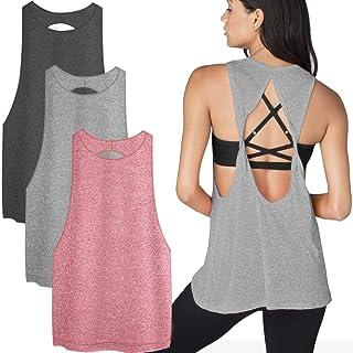 TELALEO Tank Tops for Women, Womens V-Shape Workout Tank Tops Clothes for Women Yoga Basic Running 3 Pack