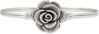 | Rose Bangle Bracelet for Women - Brass Tone Size Regular Made in USA