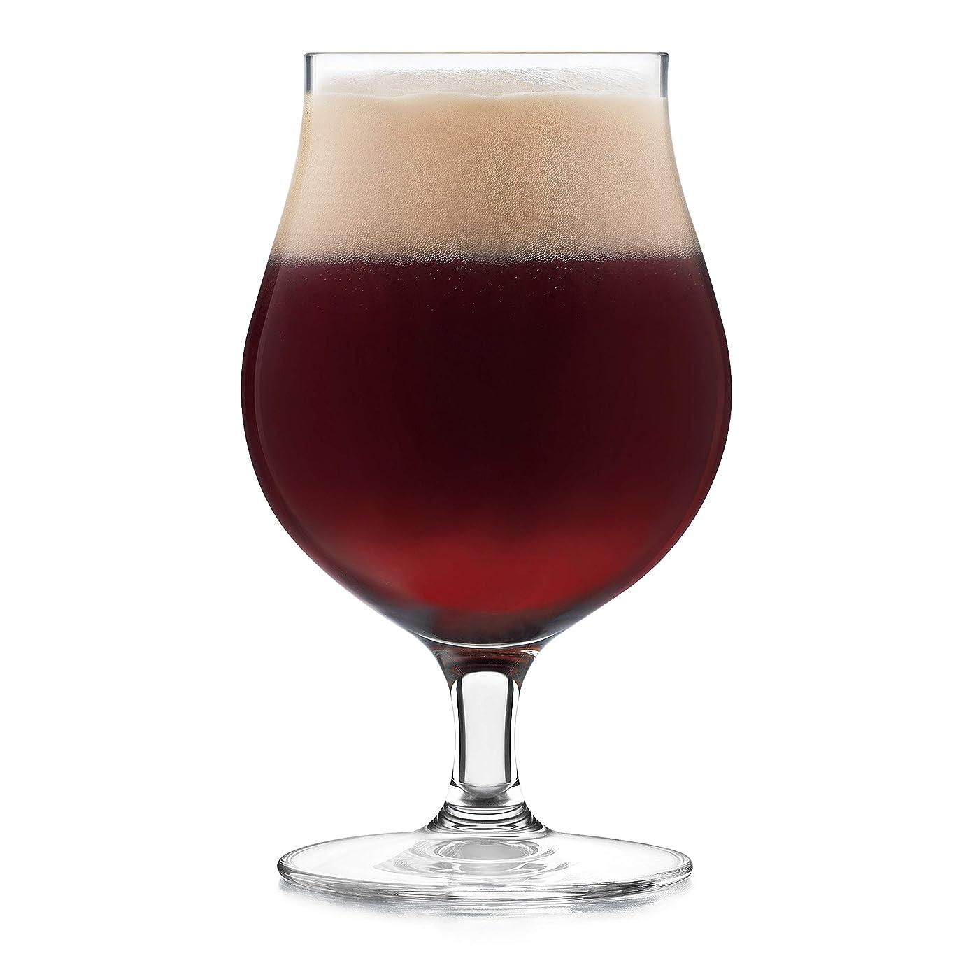 喉が渇いた医療過誤コントローラLibbey署名Kentfield 4ピースベルギービールガラスセット