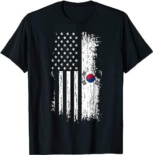 South Korean American Flag T Shirt - Korea USA Shirt