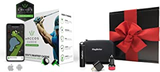 Arccos Caddie Gift Box Bundle | with Portable Smartphone Charger, USB Adapters & Protective Case | Golf Game Tracking System (Set of 14 Sensors) | GPS Live Shot Tracking (iOS & Android) | Gift Box