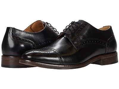 Johnston & Murphy Lewis Cap Toe (Black Full Grain Leather) Men