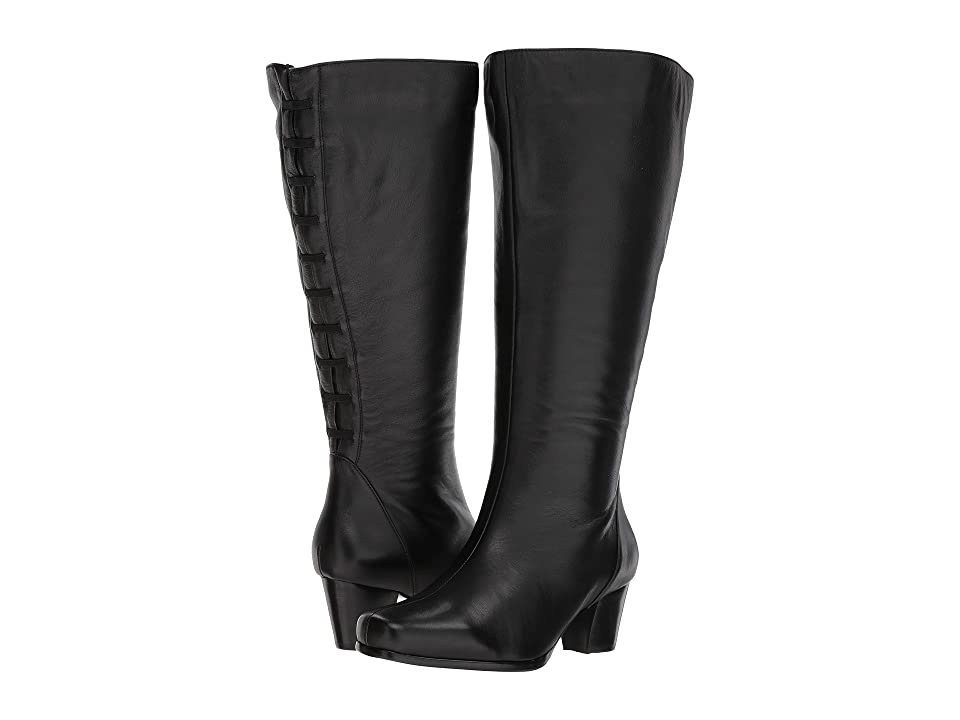 Retro Boots, Granny Boots, 70s Boots David Tate Tacoma Extra Wide Shaft Black Womens Shoes $229.95 AT vintagedancer.com