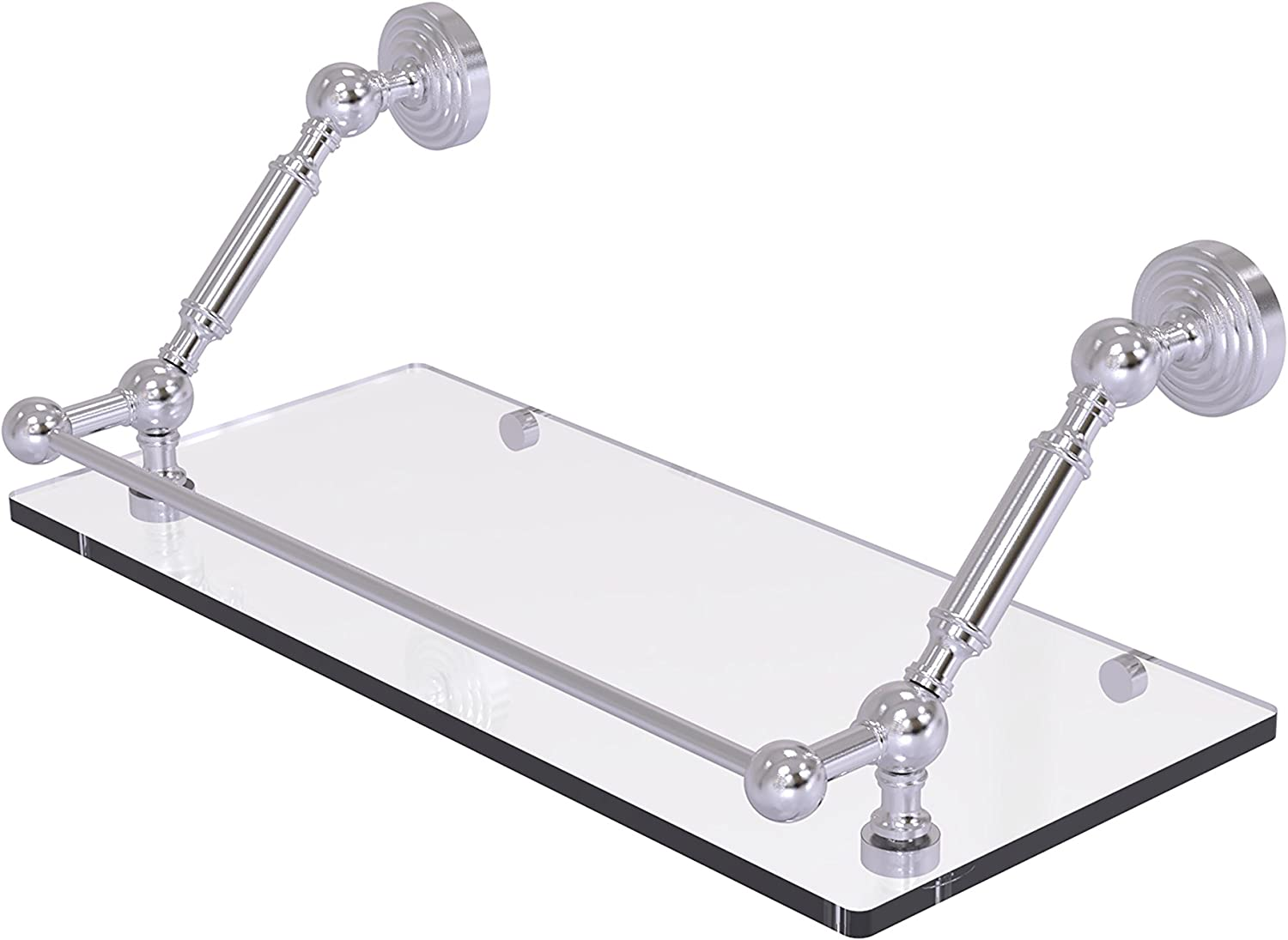 Allied Brass WP-1-18-GAL-SCH Waverly Place 18 inch Floating Glass Shelf with Gallery Rail