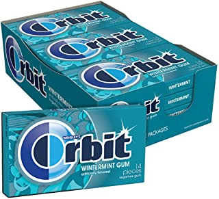 ORBIT Wintermint Sugarfree Chewing Gum, 14 Pieces (Pack of 12)