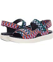 Check Print Flatform Sandal