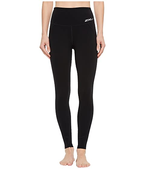 2XU Fitness High-Rise Compression Tights, Black/Black