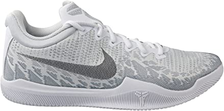 Nike Men's Kobe Mamba Rage Basketball Shoes (10.5, White/Black/Pure Platinum)