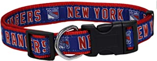 Pets First NHL New York Rangers Collar for Dogs & Cats, Small. - Adjustable, Cute & Stylish! The Ultimate Hockey Fan Collar!