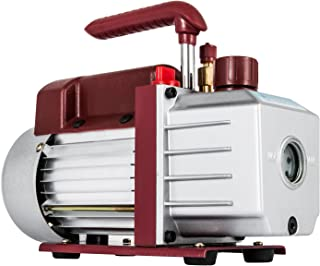 Bestauto Vacuum Pump 4.5CFM Vacuum Pump HVAC Single-Stage Rotary Vane Vacuum Pump 1/3HP 5PA Ultimate Air Conditioning Refrigerant Vacuum Pump