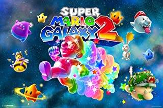 Pyramid America Super Mario Galaxy 2 Landscape Cool Wall Decor Art Print Poster 18x12