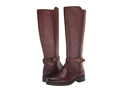 COACH Ruby Horse and Carriage Boot with Extended Calf (Walnut Leather) Women