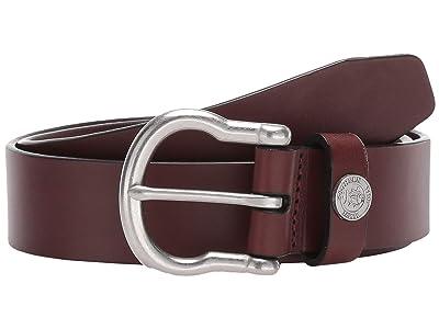Southern Tide Leather Shackle Belt (Medium Brown) Men