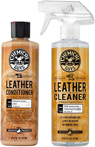 Chemical Guys SPI_109_16 Leather Cleaner and Leather Conditioner Kit for Use on Leather Apparel, Furniture, Car Inter...