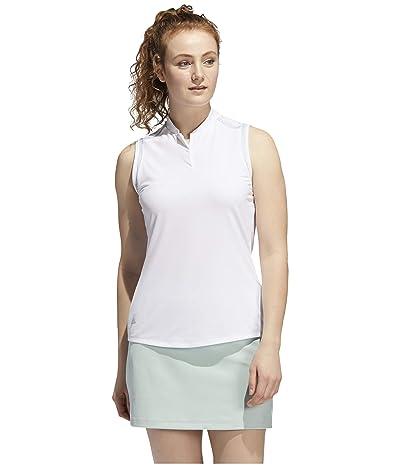 adidas Golf Ultimate365 Sleeveless Polo (White) Women