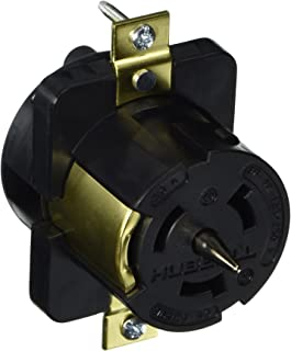 Hubbell CS6369L Locking Receptacle, 50 amp, 125/250V, 3 Pole and 4 Wire, LC