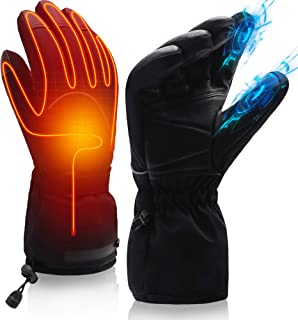 SVPRO Heated Gloves Men Women Electric Rechargeable Battery Heating Gloves Mitten Warm Winter Hunt Fish Cycle Motorcycle Drive Camp Ski Hike Motorcycle Thermal Hand Warmer