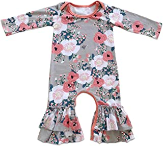 Icing Ruffle Jumpsuit Pants for Toddler Baby Girls Christmas Romper Long Sleeve Pajamas Nightwear Birthday Outfit 0-4T