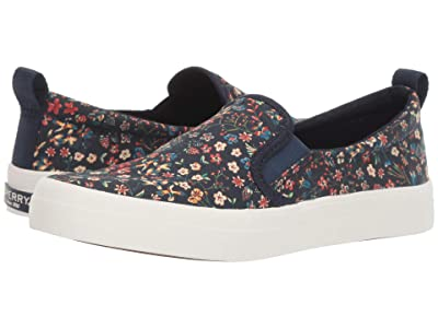 Sperry Crest Twin Gore Woven Liberty (Navy Multi) Women