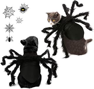 Vehomy Halloween Pet Cat Spider Costume Harness Clothes for Cats and Small Dogs Halloween Party Dress Up Festival Decoration Cosplay Spider Costumes