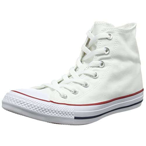 7f464fd4a80f Converse Unisex Chuck Taylor All Star Hi Top Sneaker Optical White 7 B(M)