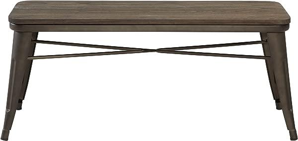 Nspire 401 197GM 工业双工作台木制金属青铜