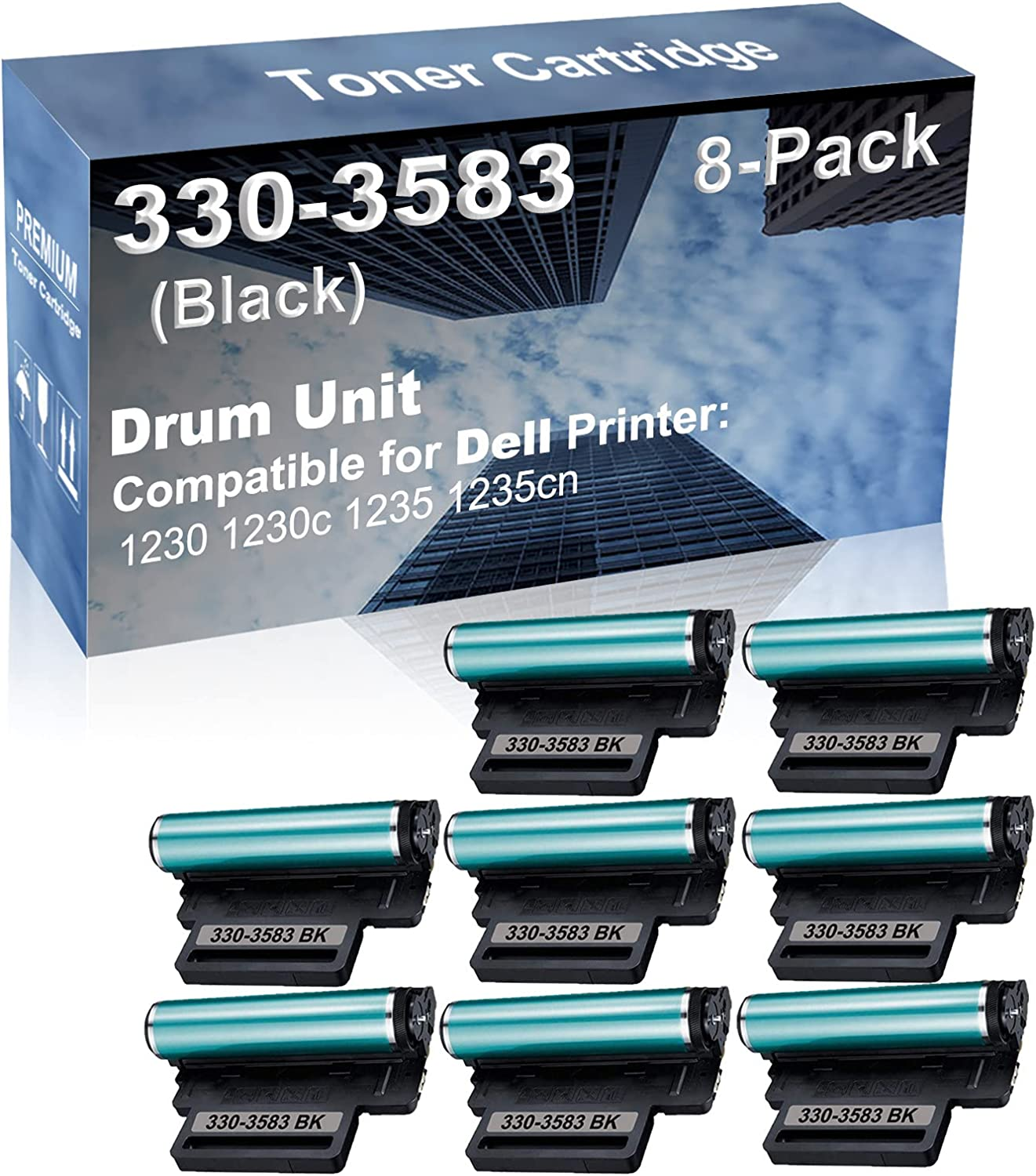 8-Pack Compatible Drum Unit Black for Clearance SALE Limited time Dell 330-358 Regular discount Replacement