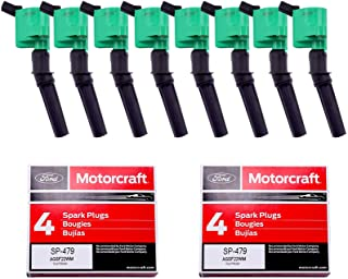 Pack of 8 New Ignition Coil DG508 and OEM Spark Plug SP479 Compatible with Ford 4.6L 5.4L V8 DG457 DG472 DG491 CROWN VICTO...