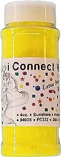 Sunshine, Extra Fine Iridescent Glitter 1/128, 4oz Shaker Bottle