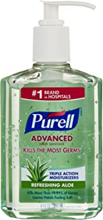 Purell Advanced Hand Sanitizer Refreshing Gel With Aloe by Purell for Unisex - 8 oz Hand Gel