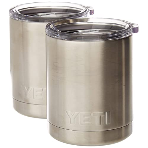 b1c89ed4862 YETI Rambler 10oz Vacuum Insulated Stainless Steel Lowball with Lid (2 Pack  Stainless)