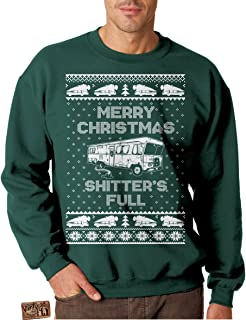 Vintage Fly Adult Ugly Christmas Sweater Shitters Full Christmas Vacation Sweatshirt