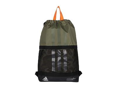 adidas Amplifier II Blocked Sackpack (Legacy Green/Black/Silver/Signal Orange) Backpack Bags