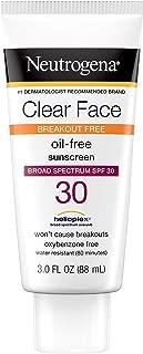Best neutrogena clear face spf 30 Reviews