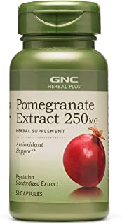 GNC Herbal Plus Pomegranate Extract 250mg, 50 Capsules, Provides Antioxidant Support