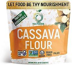 Iya Foods Premium Cassava Flour 5 lbs bags, Plant-Based, Grain-Free, Certified Gluten-Free, Kosher Certified, Non-GMO Veri...