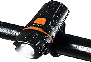 FightingGirl USB Rechargeable 1200 Lumen Bike Light IPX6 Waterproof Bicycle Headlight LED Front Light 6 Modes,Easy Install & Quick Release Fits All Bicycles for Commuter Flashlight Torch