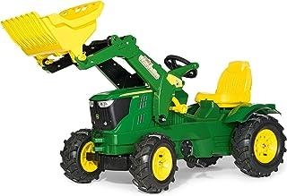 Rolly Toys rollyFarmtrac John Deere 6210R Trettraktor für Kinder 3-8 Jahre, Luftbereifung, Frontlader, Sitz verstellbar 611102