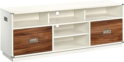"""Sauder Vista Key Credenza, for TVs up to 60"""", Pearl Oak Finish"""