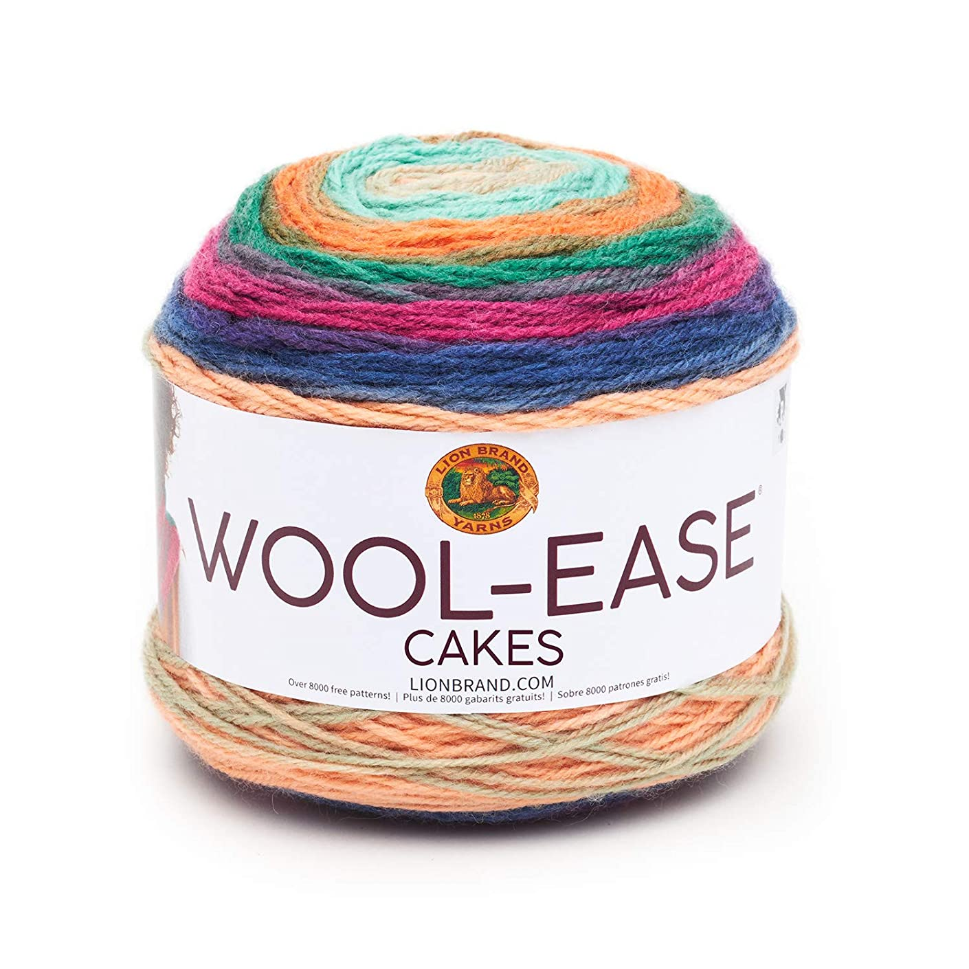 Lion Brand Yarn 621-200 Wool-Ease Cakes Yarn, One Skein, Hecate