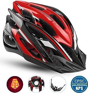 کلاه ایمنی مخصوص دوچرخه Basecamp ، کلاه ایمنی دوچرخه CPSC و CE با لوازم جانبی کلاه ایمنی-چراغ روشن / قابل جدا شدن / کیسه قابل حمل دوچرخه کلاه دوچرخه BC-DDTK قابل تنظیم برای مردان و زنان بزرگ جاده و کوه