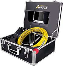 Sewer Camera 165ft Snake Cam with DVR Video Pipe Inspection Equipment 7 inch LCD Monitor Duct HVAC 1000TVL Sony CCD Borescope Endoscope Waterproof Ip68 Cable 50M (Free 8GB SD Card)