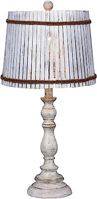 Costzon Bedside Table Lamp Elegant Steel Base Antique