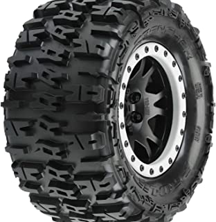 2 Traxxas 7772X X-Maxx 8S-Rated Maxx AT Tires Pre-Mounted on Black Wheels