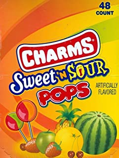 Charm Pops - Sweet and Sour Suckers 48-0.625 oz pops