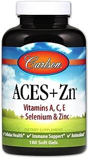 Carlson - ACES + Zn, Vitamins A, C, E + Selenium & Zinc, Cellular Health & Immune Support, Antioxidant, 180 soft gels