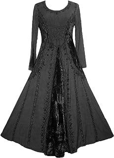 204 DR Peasant Bohemian Velvet Corset Long Formal Dress Gown