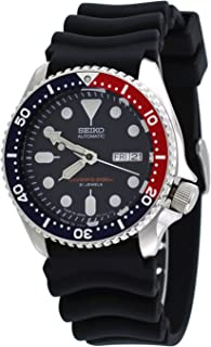 Seiko SKX009 J1 Automatic Blue & Red with Black Dial Men's Analog Divers Watch (Made in Japan)