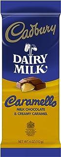 Cadbury Caramello Bar, Milk Chocolate & Creamy Caramel, 4-Ounce Bars (Pack of 6)
