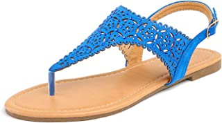 MEDINIE Women Rhinestone Casual Wear Cut Out Flat Sandals